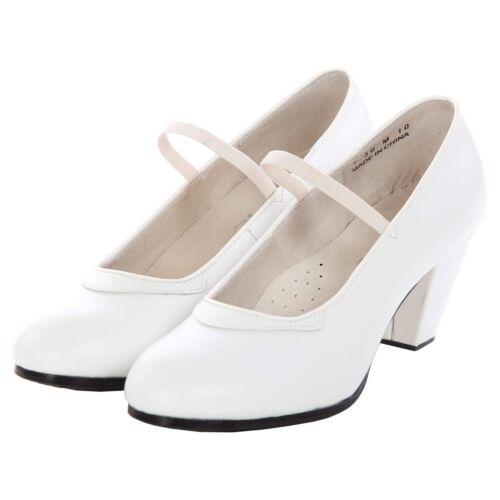 """DiMichi Adult /""""Maria/"""" Leather Elastic Strap Flamenco shoe"""