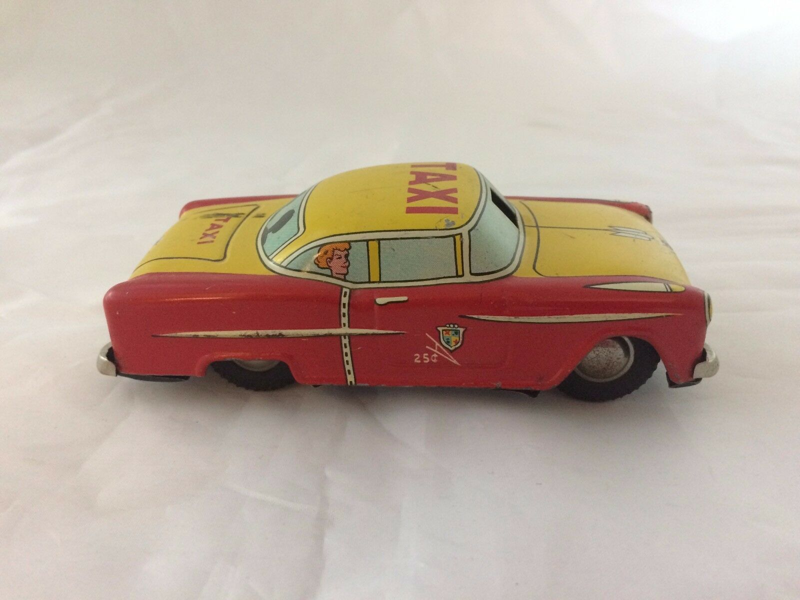 LINE MAR MAR MAR Toys Tin Litho Friction Taxi Japan 7c3d6d