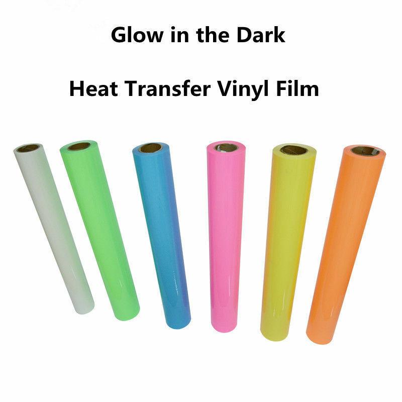 Viewmoi Glow in Dark Heat Transfer Vinyl Luminous HTV Neon 8 Sheets 10x12 Noctilucent Press Film Iron on Vinyl T-Shirt Clothing Decoration Textile DIY Craft
