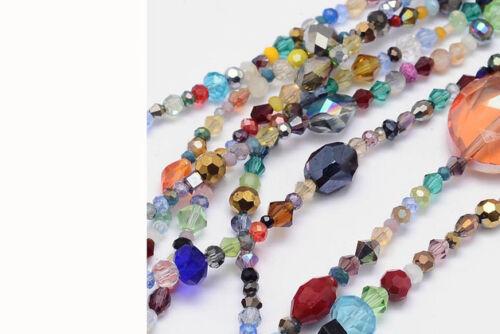 2 Strang 3-10 mm rodé Perles Mix #9856