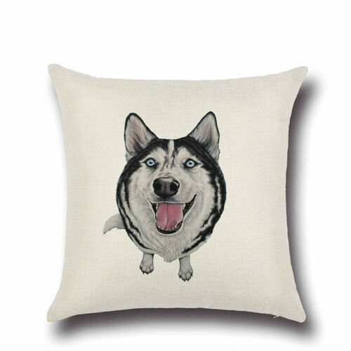 20 BREEDS IN STOCK 45cm Puppy Throw Pillow Gift UK Dog Breed Cushion Covers