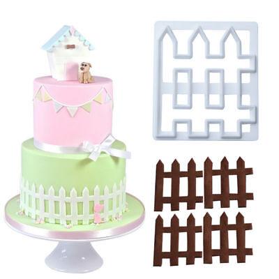 1pc Fence Plastic Fondant Cutter Cake Mold DIY Fondant Cupcake Decorating Tools