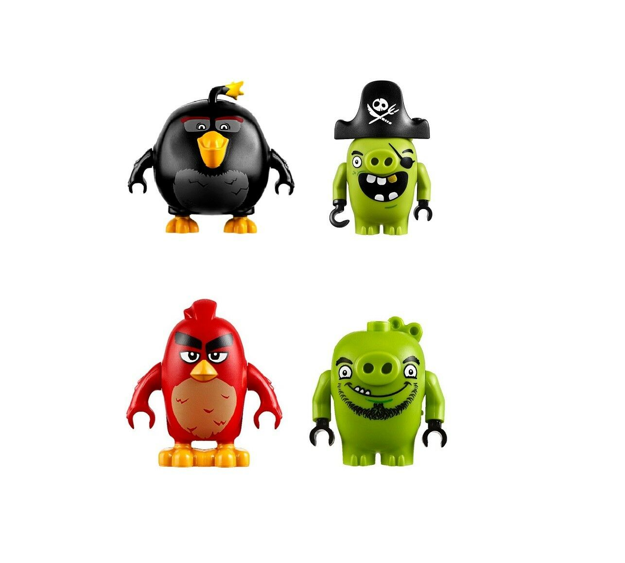 LEGO Minifigure set - Red, Bomb, Pirate Pig and Leonard from 75825 - NEW