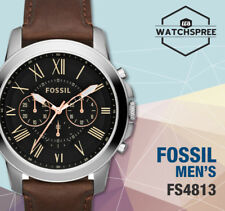 Fossil Grant Chronograph Men's Leather Watch FS4813