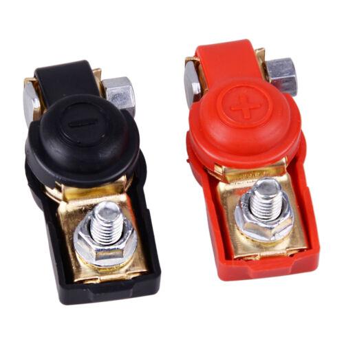 12V  Car Adjustable Battery Terminal Clamp Clips Connector Positive Negative