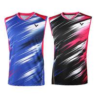 2016 Olympic Games Victor Men's Tops Table Tennis Clothing Badminton T-shirt