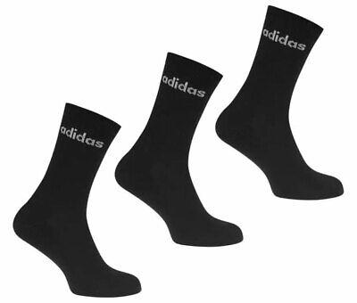 Adidas Socken 3 Paar Crew Schwarz Sport cz7292 Herren Größe 8.5 11 BRANDNEU | eBay