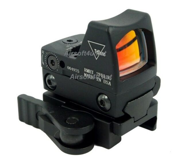 Tactical Airsoft RMR-Style Mini Micro Red Dot Sight With QD Mount fit 20mm rail
