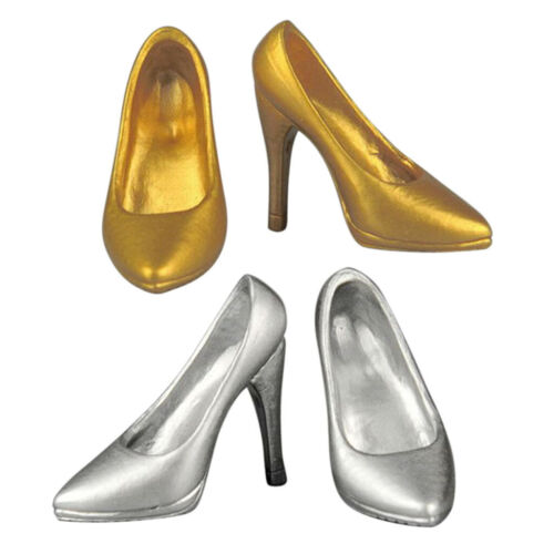 2 Pairs 1//6 Female Stiletto High Heels Shoes for 12/'/' Hot Toys Phicen Kumik