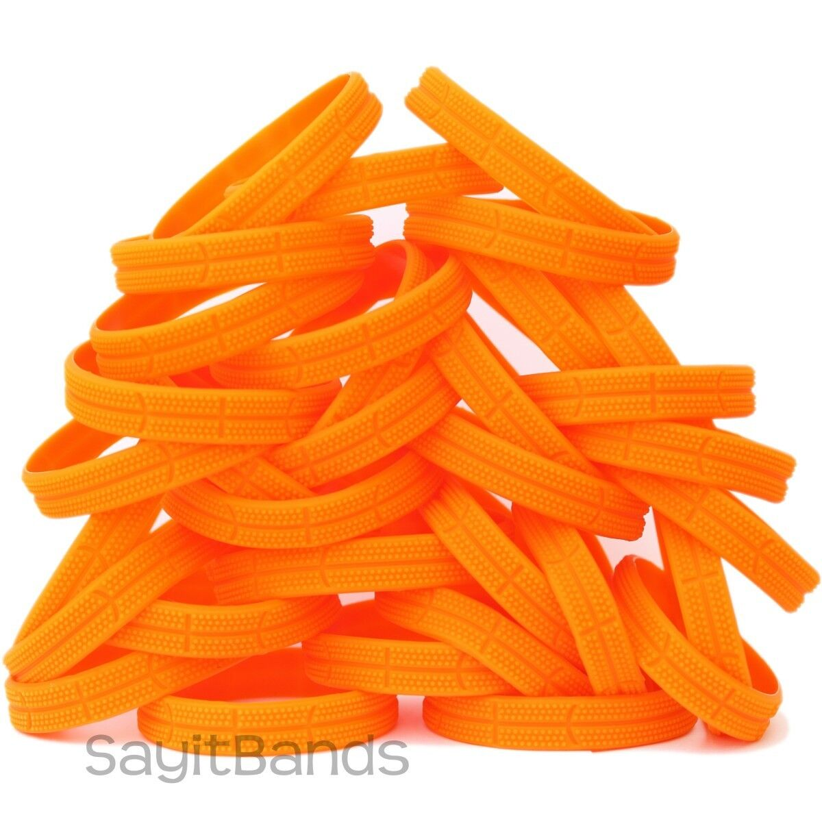 50 Basketball Wristbands - Great Silicone Bracelets with Hoops Ball Design