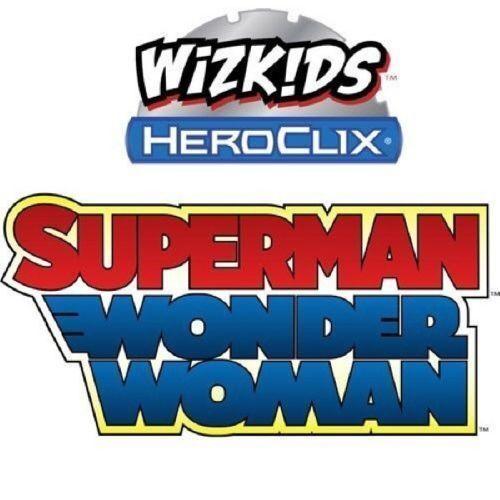 DC HeroClix Superman  Wonder kvinna 1 - 48 fullsatt set (47 -siffror) saknas