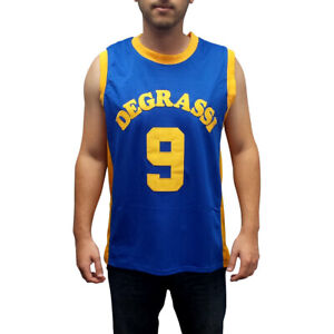 Jimmy-Brooks-9-Degrassi-Men-039-s-Basketball-Jersey-Stitched-Blue