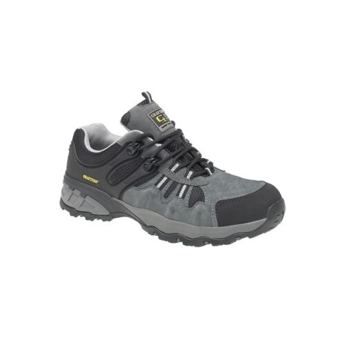 Grafters homme en cuir à lacets composite toe frottement SB sra baskets de sécurité gris