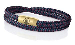 Seemannsgarn Maritimes Segeltau Armband Hiddensee Navy Blau