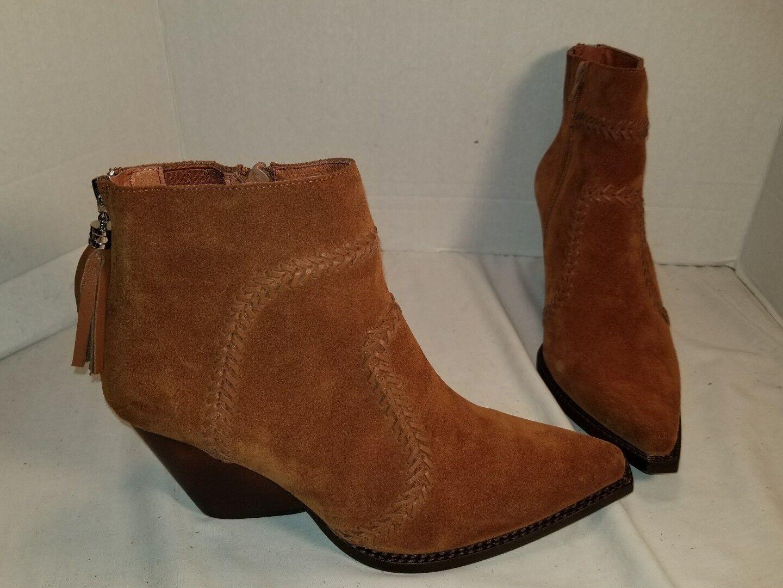 Nuevo Jeffrey Campbell beowolf Miel Gamuza Occidental botas botas botas al Tobillo nos para Mujer 10  salida