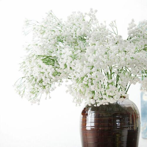 White Gypsophila Flowers Bouquet Artificial Fake Floral Decor 2//4//10 Branches #k