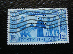 Italy-Stamp-Yvert-and-Tellier-N-278-Obl-Drilled-A11-Stamp-Italy
