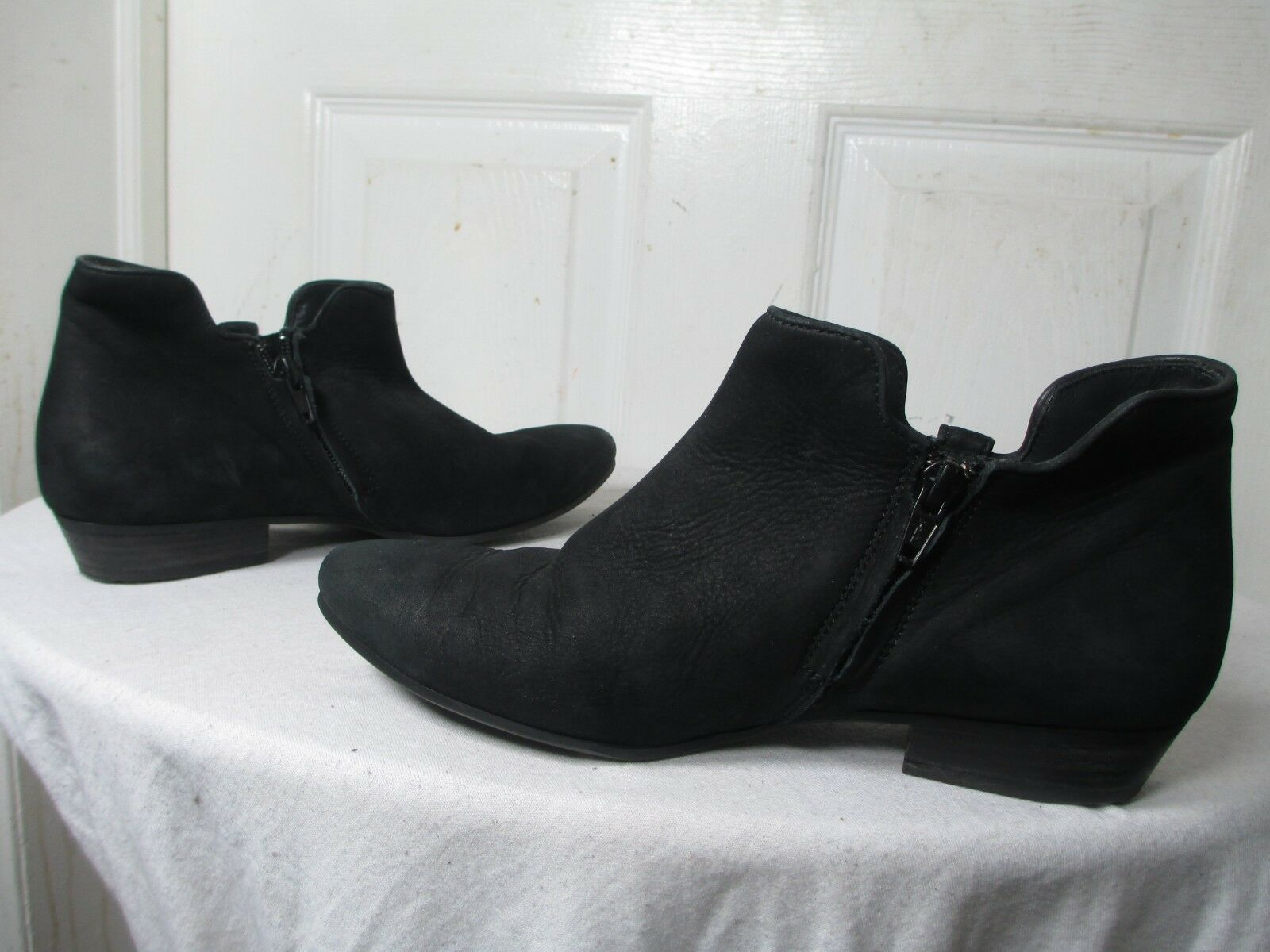 PAUL GREEN BARNES DISTRESSED DISTRESSED DISTRESSED BLACK LEATHER ANKLE BOOTS WOMEN PG SZ 4 US 7  350 c7bba2