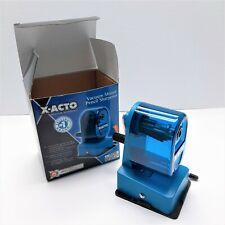 X Acto Manual Pencil Sharpener Vacuum Mount Blue