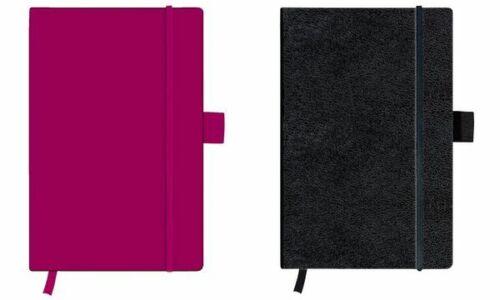 herlitz Notizbuch my.book classic A6 96 Blatt Geschäftsbuch Lederoptik schwarz