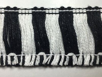 20 Continuous Yards Color: White Made in USA 1 Cotton Brush Fringe