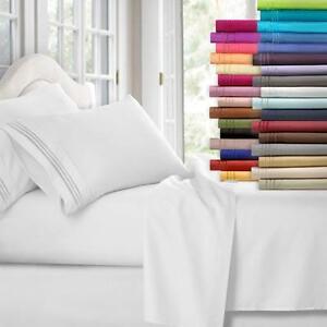 Deep Pocket 1800 Count Luxury Series 4 Piece Bed Sheet Set
