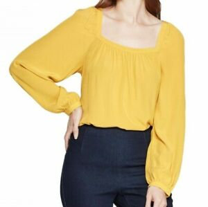 A-New-Day-Women-039-s-Regular-Fit-Long-Sleeve-Square-Neck-Top-SZ-L