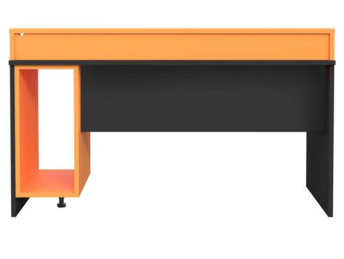TEZO II Gaming Schreibtisch Gamertisch Dekor Schwarz Orange 160x69 viele Fächer