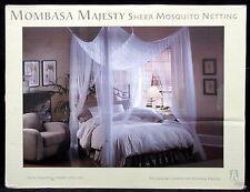 Mombasa Majesty Ivory Sheer Mosquito Netting 100% Polyester Fits Full to King & Mombasa Bedding Majesty Sheer Mesh Bed Canopy Netting - Ivory | eBay
