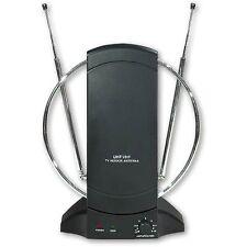 Antenna TV Amplificata da interno digitale terrestre UHF/VHF/FM/DVB