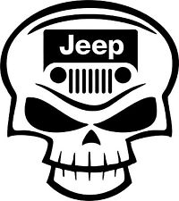 Jeep decal decals sticker wrangler sahara willys sport cherokee skull skullz