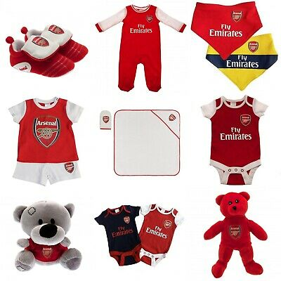 Arsenal FC 0-3 Months Authentic Cute Baby Body Suits 2 Pack