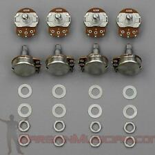 Lot of 8 A250K Volume / Tone Pots for Guitar / Bass, 24mm, Audio Potentiometer