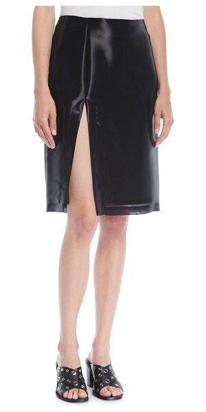 Helmut Lang Shayne Oliver Split Knee-Length Skirt (retails  450)