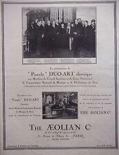 PUBLICITÉ 1925 THE AEOLIAN PIANOLA DUO-ART ÉLECTRIQUE - ADVERTISING
