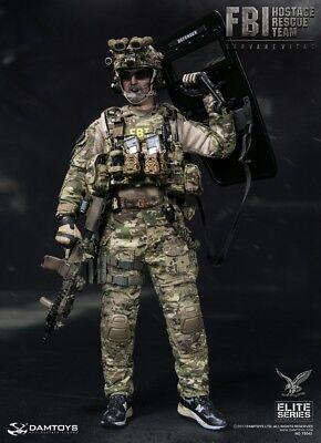 DAMTOYS DAM 78042 1//6 FBI HRT Agent Hostage Rescue Team Servarevitas Badge Model