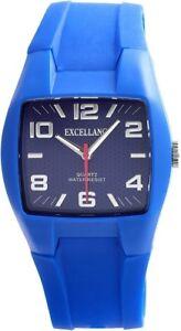Excellanc-Herrenuhr-Blau-Analog-Kunststoff-Silikon-Armbanduhr-X225683000010