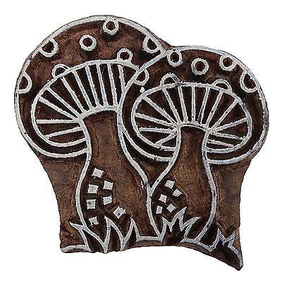 Decorative Printing Hand Carved Mushroom Wooden Blocks Border Stamps PB2942A
