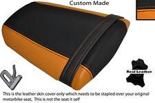 Naranja Y Negro Custom encaja Honda Cbr 600 Rr 07-12 Trasera de piel cubierta de asiento solamente