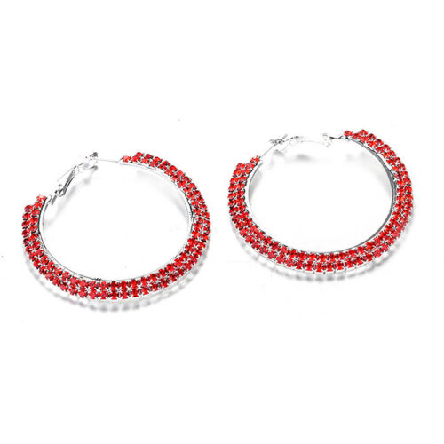 Eardrop Circle Stud Rhinestone Earrings Accessories Gift Banquet Round Shape Y3