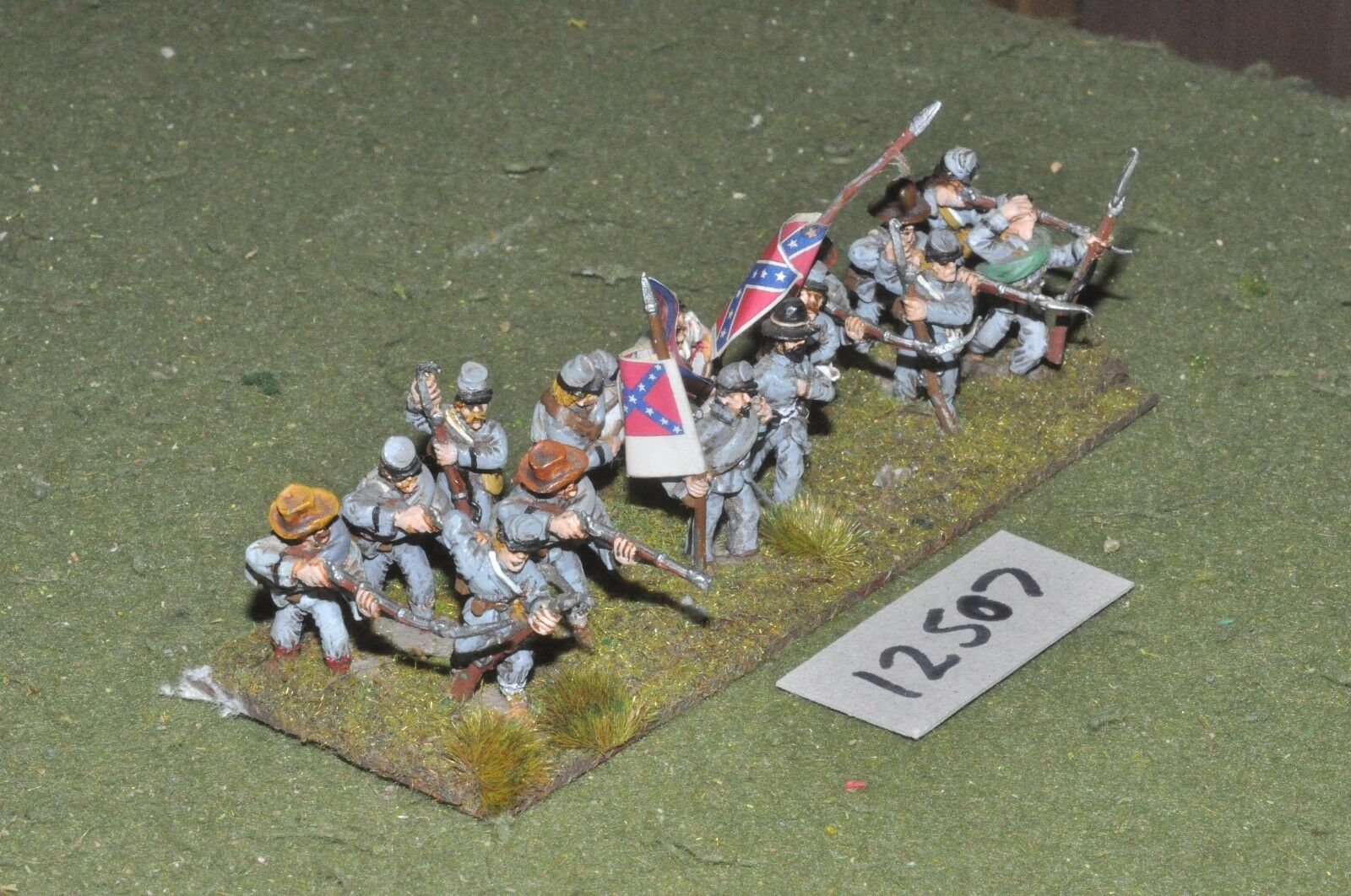 25mm ACW   confederate - american civil war infantry 15 figures - inf (12507)