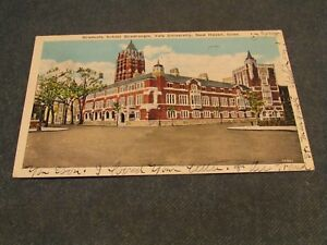 Details about Postcard-Graduate School Quadrangle,Yale  Univ -NewHaven,Conn -WhiteBorder-Posted