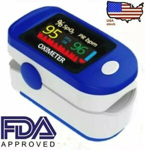 Oximeter Fingertip pulse Blood Oxygen SpO2 Monitor heart rate FDA✅Same day USA