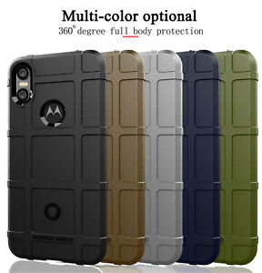 release date: ce4a0 7127e For Motorola Moto One /Power, Shockproof Rugged Shield Soft Rubber ...