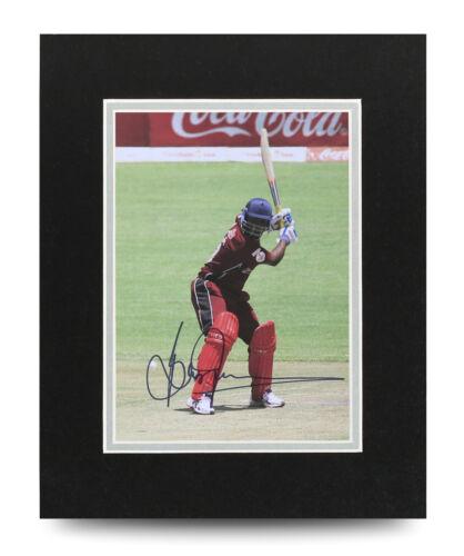 COA Brian Lara Signed 10x8 Photo Display Cricket Autograph Memorabilia