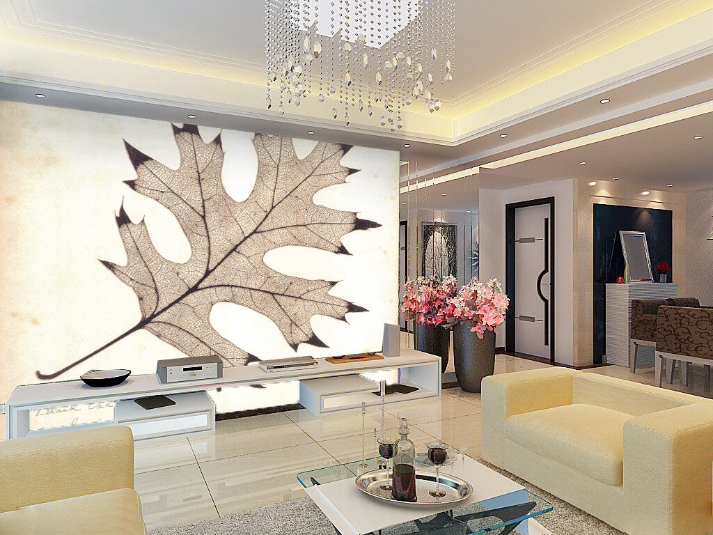 3D Old Maple Leaves 52 Wall Paper Wall Print Decal Wall Deco Indoor Mural Lemon