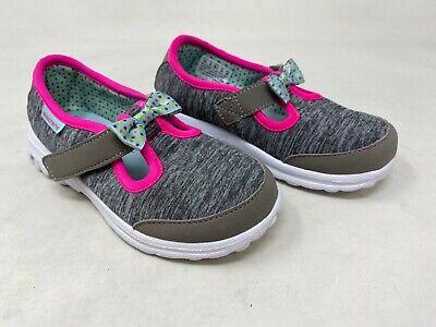 New! Girls Toddler Skechers 81068 GOwalk Bitty Bow Slip On Gray Multi K63 | eBay