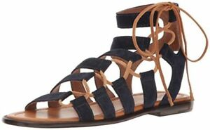 018a071647f4 New  258 Frye Blair Side Ghillie Navy Blue Brown Sandal Leather ...