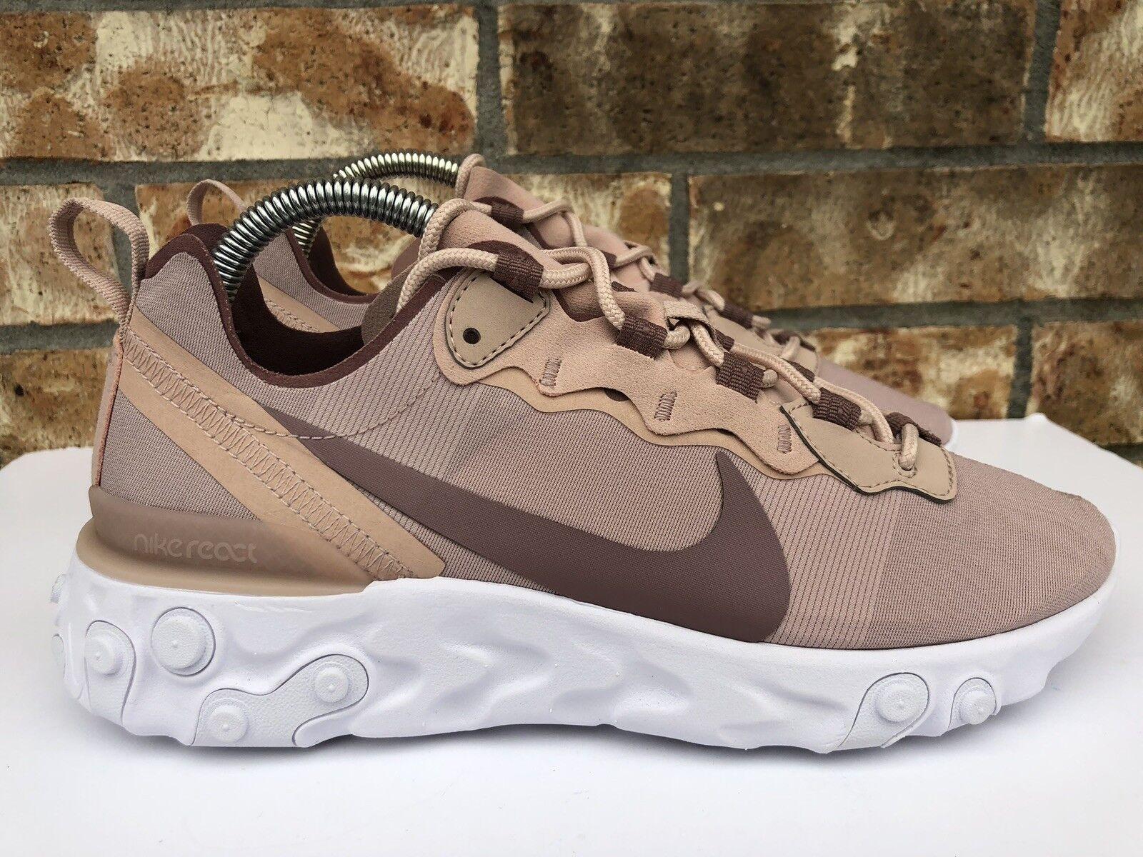 Women's Women's Women's Nike React Element 55 Running shoes Particle Beige Size 8.5 BQ2728 200 641b27