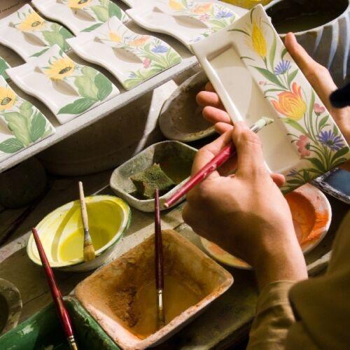 Bassano Céramique sucrier hauteur 8 cm Miel Motif d/'Italie nouvellement faits à la main